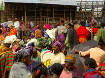 Afrikanischer Marktplatz Lizenzfreies Stockfoto