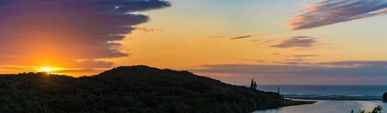 Afrikanischer Sonnenaufgang lizenzfreies stockfoto