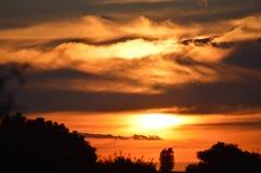 Afrikanischer Sonnenuntergang Stockfotografie