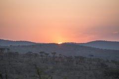 Afrikanischer Sonnenuntergang Lizenzfreie Stockfotografie