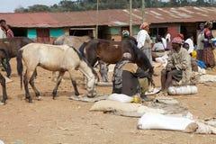 Afrikanischer Stammes- Markt Lizenzfreies Stockfoto