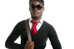 Afrikanischer stattlicher junger Mann der Art und Weise Stockfotos