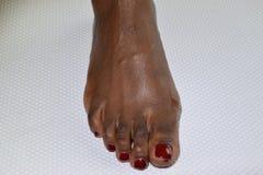 Afrikanischer weiblicher Fuß Stockbilder