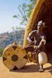 Afrikanischer Zulutrommelspieler Lizenzfreie Stockbilder