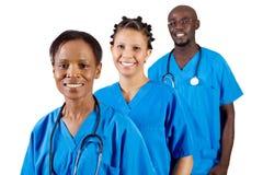 Afrikanisches Ärzteteam Stockfotografie