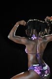 Afrikanisches Bikini-Mädchen Stockfotos
