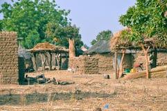 Afrikanisches Dorf stockbilder