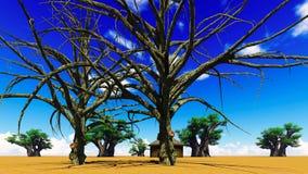 Afrikanisches Dorf vektor abbildung