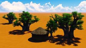 Afrikanisches Dorf stock abbildung
