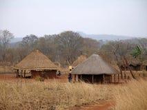 Afrikanisches Dorf in Mosambik Stockbilder