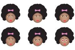 Afrikanisches emoji lizenzfreie abbildung