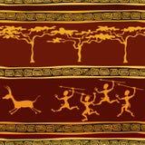 Afrikanisches ethnisches nahtloses Muster stock abbildung