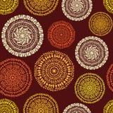 Afrikanisches ethnisches nahtloses Muster Stockbilder