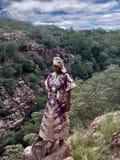 Afrikanisches Frauenportrait stockbild