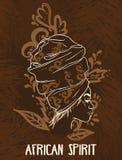 afrikanisches Geistplakat stock abbildung