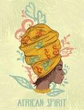 afrikanisches Geistplakat vektor abbildung