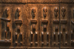 Afrikanisches hölzernes Handwerksmuster Lizenzfreies Stockbild