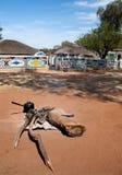 Afrikanisches Haus und Kochen Stockfotos