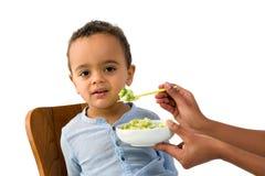 Afrikanisches Kleinkind, das ablehnt zu essen Lizenzfreies Stockbild
