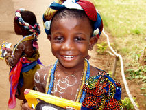 Afrikanisches Mädchen - Ghana lizenzfreies stockbild