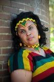Afrikanisches Mädchen mit äthiopischem Kostüm lizenzfreie stockfotografie