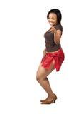 Afrikanisches Mädchentanzen lizenzfreies stockfoto