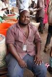 Afrikanisches Markt-Verkäufer-Porträt Lizenzfreie Stockfotos