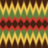 Afrikanisches Muster Ethnisches Gewebe Ikat-Druck Vektortapete vektor abbildung