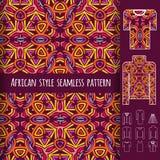 Afrikanisches nahtloses Muster Stockfotografie