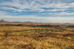 Afrikanlandskap - Palmwag Namibia Royaltyfri Bild