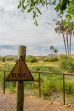 Afrikanlandskap - Palmwag Namibia Arkivfoto