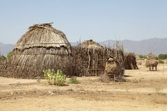 Afrikansk by Arkivbilder