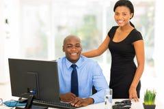 Afrikansk affärsledare arkivbild