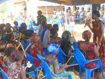 Afrikansk akanegen i land Royaltyfria Bilder
