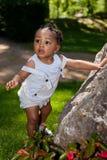 afrikansk amerikan behandla som ett barn den gulliga pojken Royaltyfria Foton