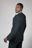 Afrikansk amerikanaffärsman som baksidt ser Royaltyfri Bild