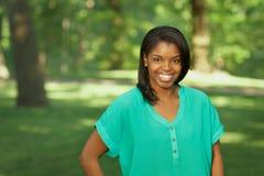 Afrikansk amerikanbarnkvinna royaltyfri bild