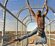 Afrikansk amerikandansare/modell i Richmond, VA. Fotografering för Bildbyråer