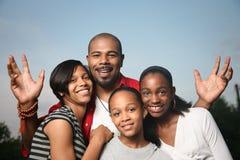 afrikansk amerikanfamilj Royaltyfri Foto