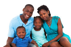 Afrikansk amerikanfamilj Arkivbild