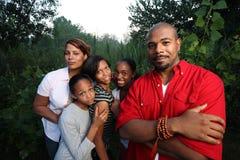afrikansk amerikanfamilj Arkivfoto