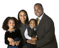 afrikansk amerikanfamiljstående Arkivfoto