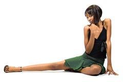 afrikansk amerikanflickabarn Royaltyfri Bild