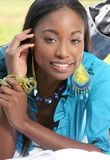 afrikansk amerikanframsidakvinna Royaltyfria Bilder