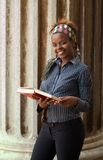 afrikansk amerikanhögskolestudent Fotografering för Bildbyråer