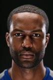 Afrikansk amerikanidrottsman nen Portrait With Blank Expre arkivbild