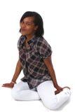 afrikansk amerikankvinna Fotografering för Bildbyråer