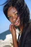 afrikansk amerikankvinnabarn Arkivbilder