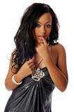 afrikansk amerikankvinnabarn Royaltyfria Bilder