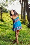 Afrikansk amerikankvinnalivsstil Fotografering för Bildbyråer